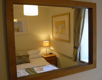 Lower Saltings bedroom mirror