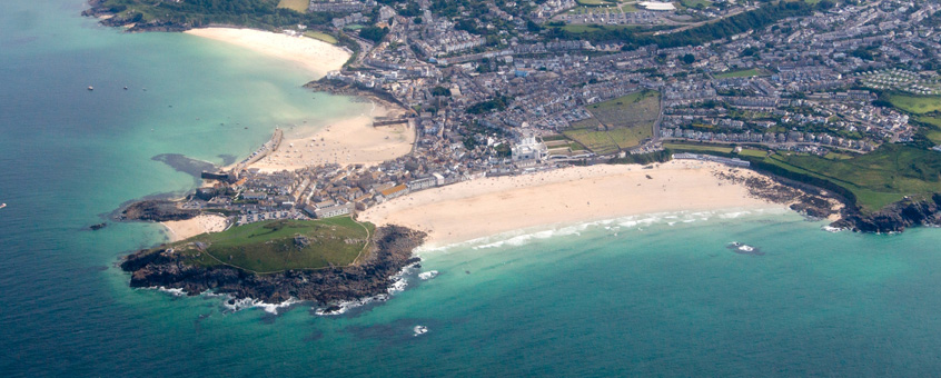 St Ives Aerial view