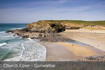 Church Cove Gunwalloe in Cornwall