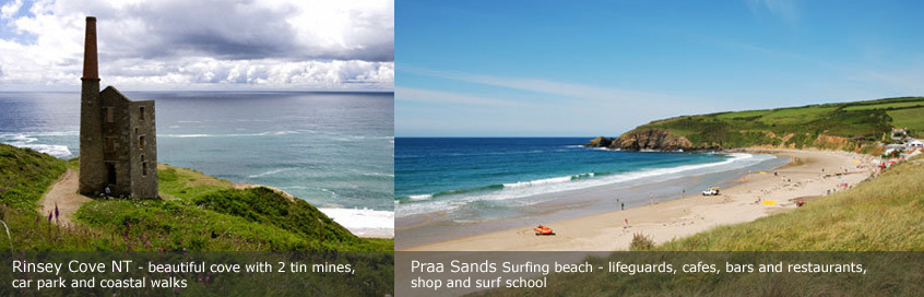 Praa Sands and Rinsey Cove in Cornwall