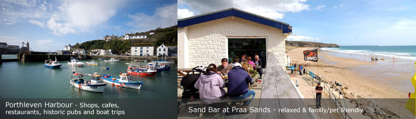 Praa Sands and Porthleven Harbour St Ives